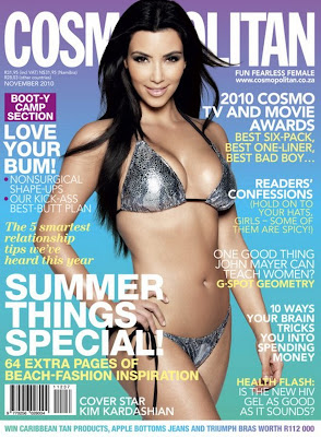 Kim Kardashian big tits and arse on Cosmopolitan magazine cover