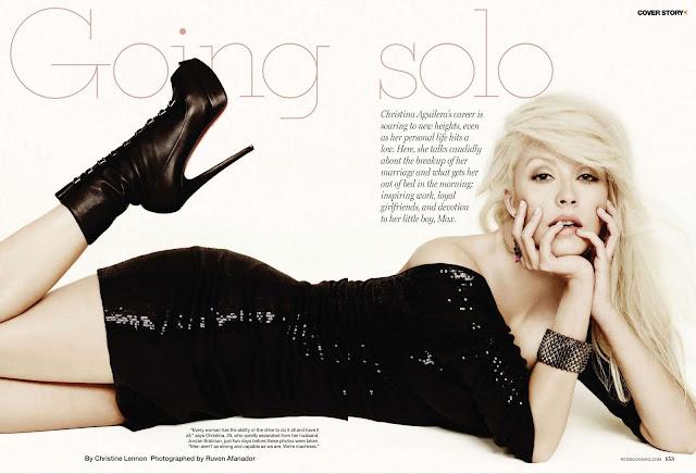 Christina Aguilera sexy Redbook