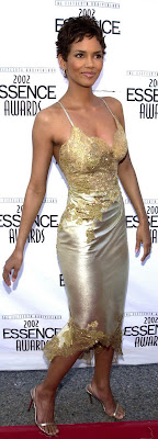 Halle Berry sexy see through dress cleavage Essence Awards