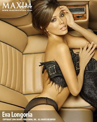 Eva Longoria hot lingerie MAXIM