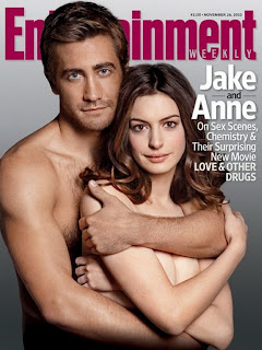 Anne Hathaway topless covers of Entertainment Weekly