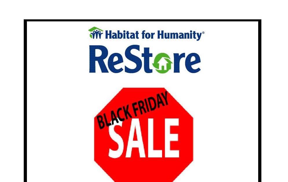 black friday sale at the restore habitat for humanity. Black Bedroom Furniture Sets. Home Design Ideas