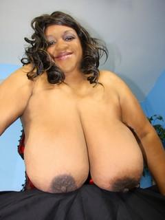 Big black boob clip