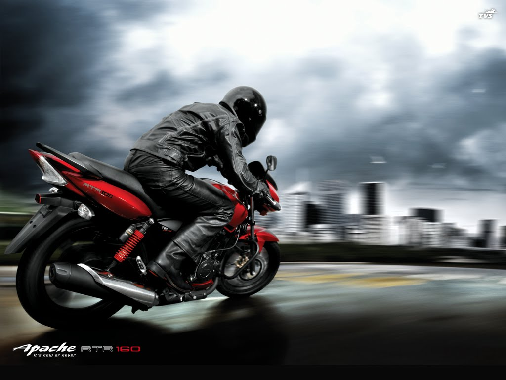 Cadet into Captain  Tvs Apache 180 Wallpaper