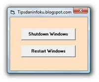 Visual Basic Shutdown-Restart