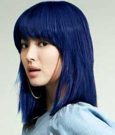 rambut biru