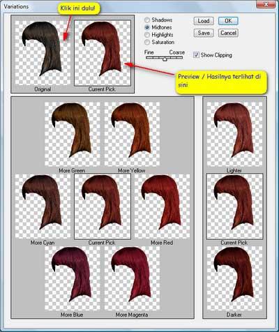 pilih warna rambut