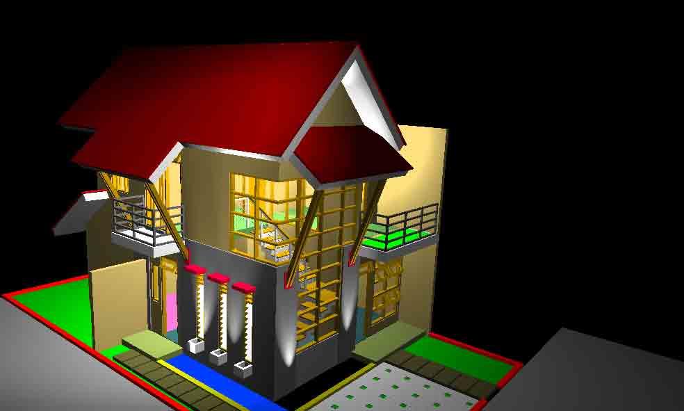 Desain Rumah Kanaka 90 - Jogjakarta