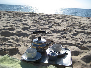 coffee at beach weekend