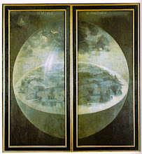 """La creación del mundo (Reverso del tríptico """"El jardín de las delicias"""" del Bosco"""