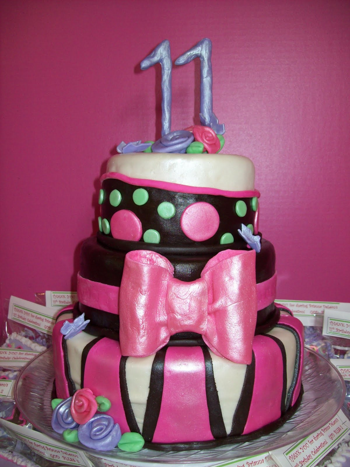 Cedargap Creations Cookies Briannas 11th Birthday Party Cake And