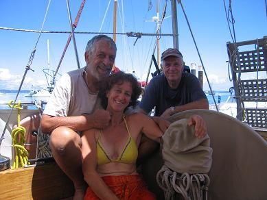 Manfred con Luigi e Silvia - Amici navigatori.