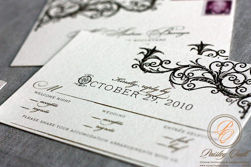 Spanish Style Laser Cut Invitations