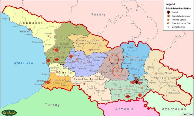 georgia map bombed