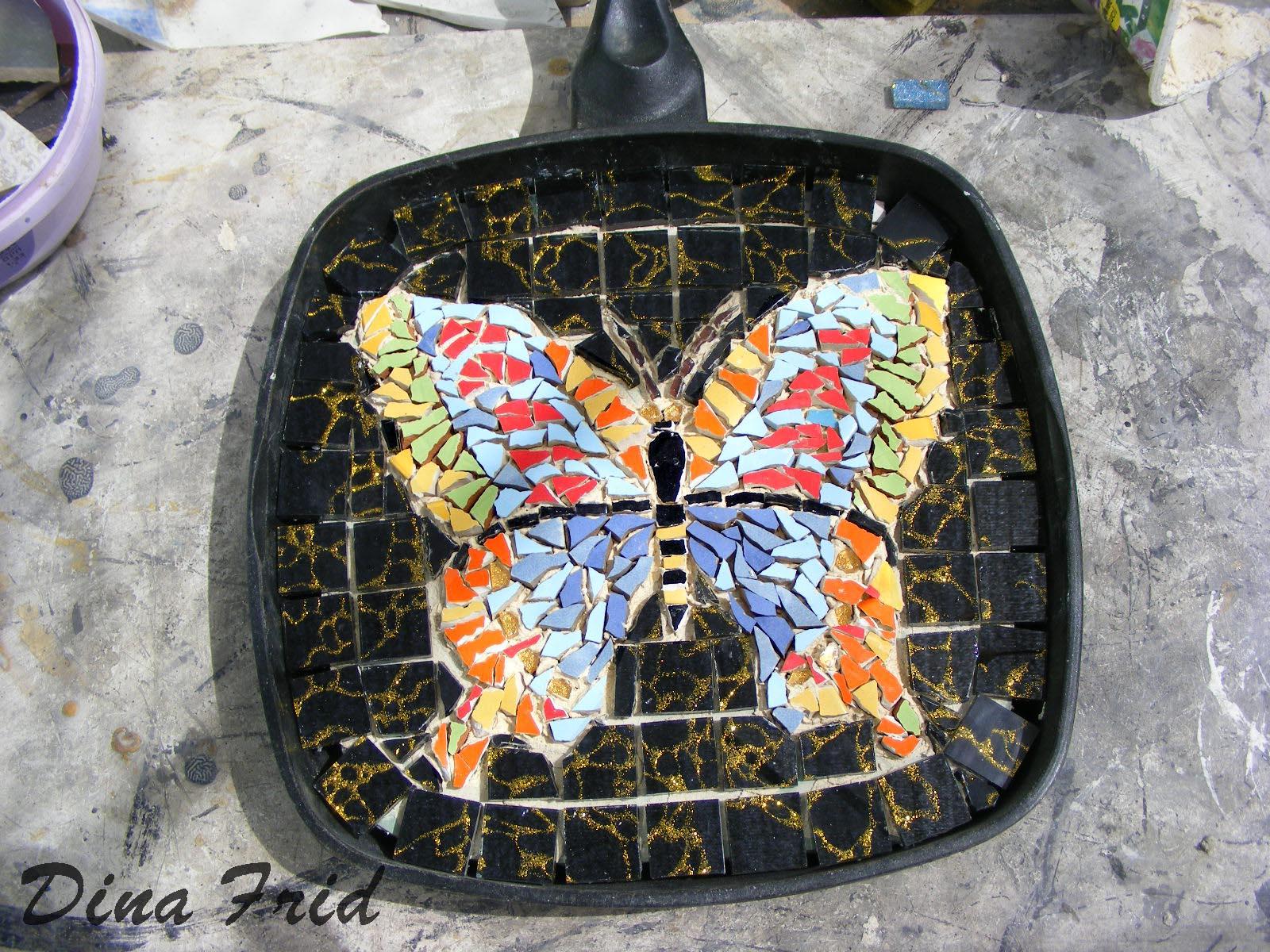Как сделать мозаику на печке