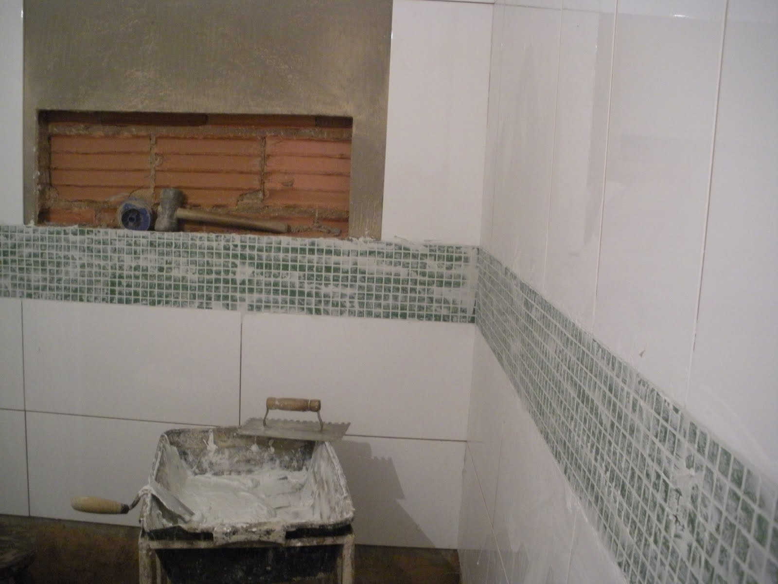 Gleide casa nova: BANHEIRO COM PASTILHA VERDE!! #694933 1600x1200 Banheiro Com Pastilhas Verde Agua