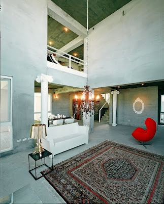 Design Classic Interior Dramatic loft in Taiwan