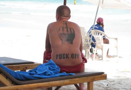 I think I'll get a tattoo. Beachfuckoff+41