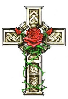 blood red rose Tattoo - A symolism of Christ