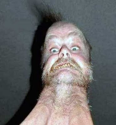 Really ugly man picture