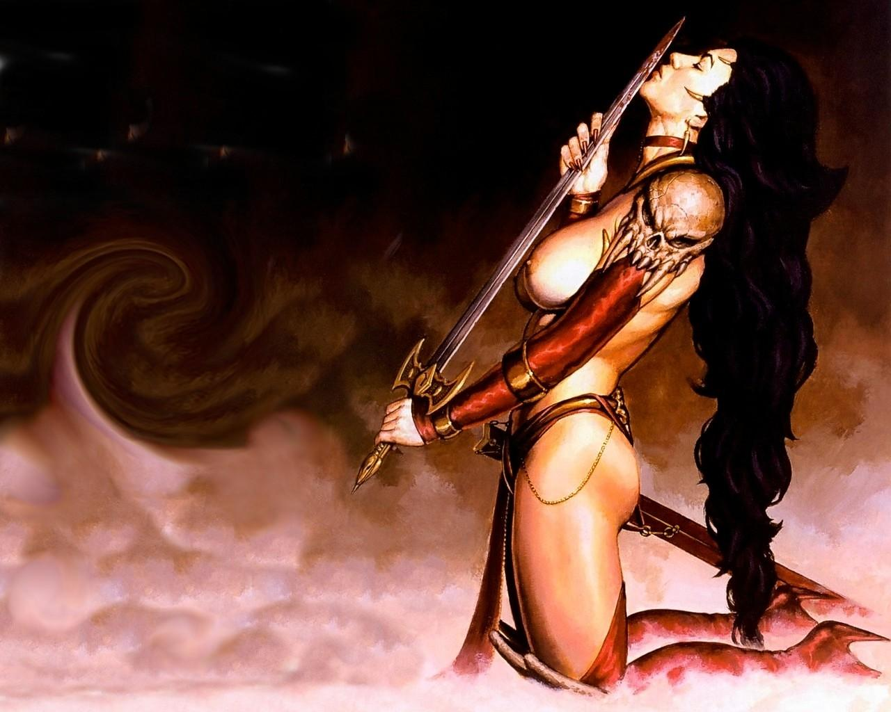 Nude woman warrior wallpapers art sexual streaming