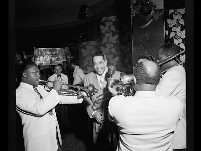 Duke Ellington, Cat Anderson, and Sidney De Paris, Aquarium, New York, N.Y., ca. Nov. 1946