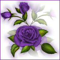 Purple Flower Tag
