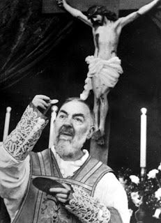 St. Padre Pio Celebrating Holy Mass