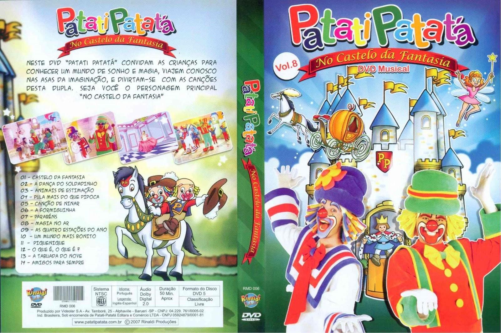 CAPA DVD   Patati Patata   No Castelo Da Fantasia