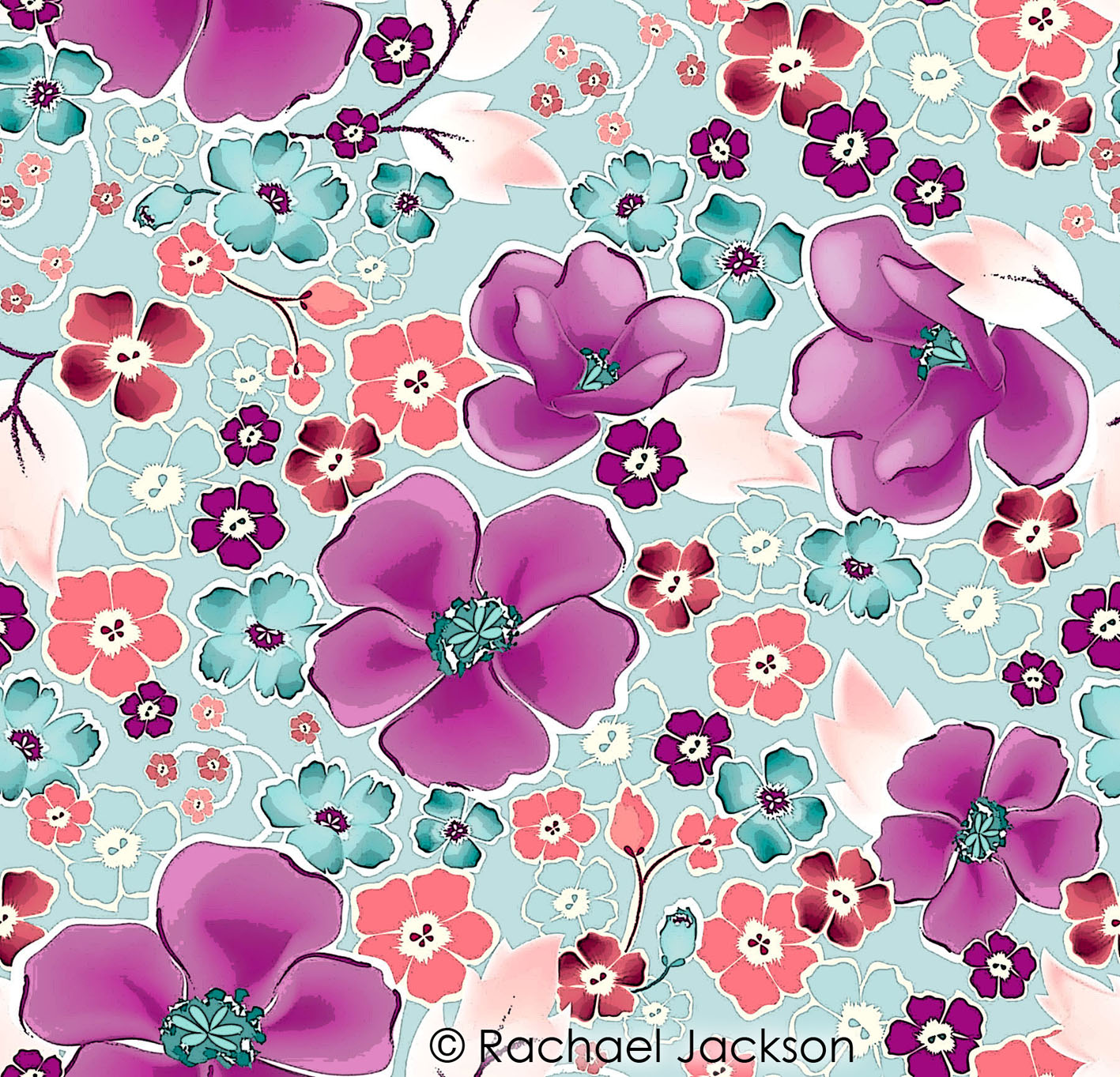 All over pattern digital textile design and printing for Fabric designs