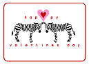 Small Valentine Zebra Cards