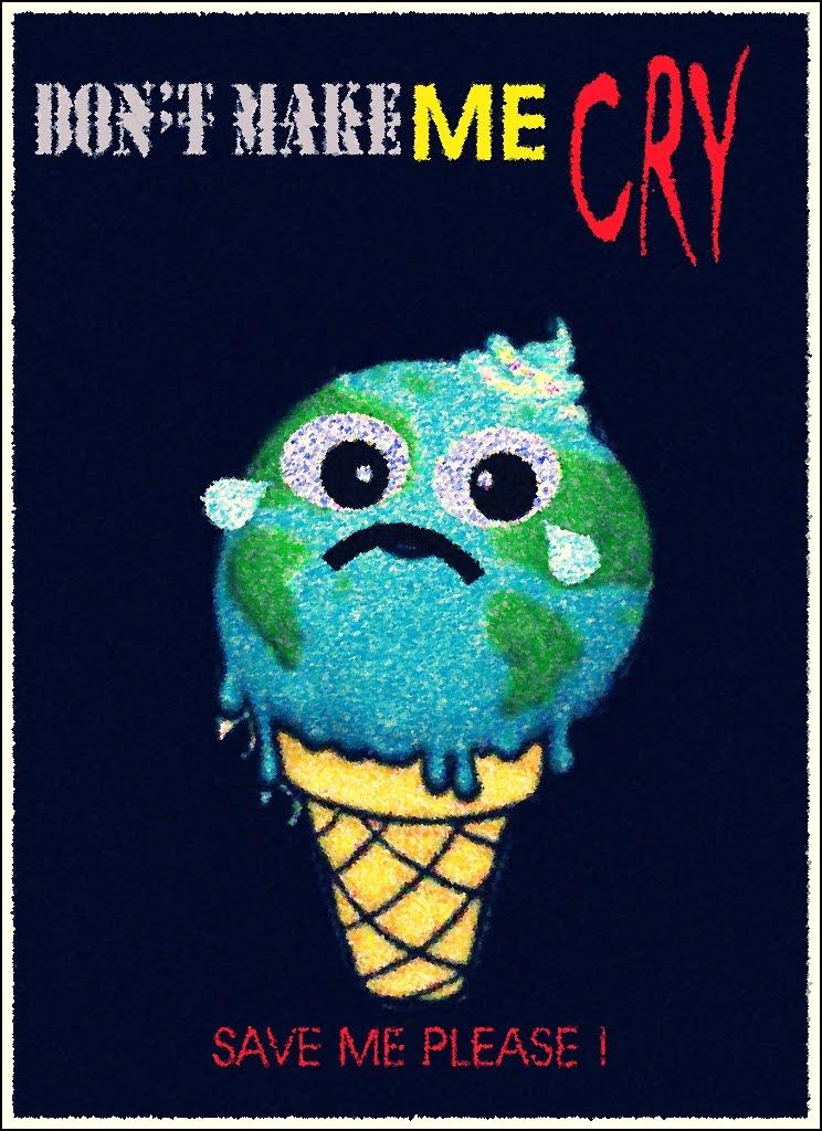 tema poster yang ak ambil adalah global warming.