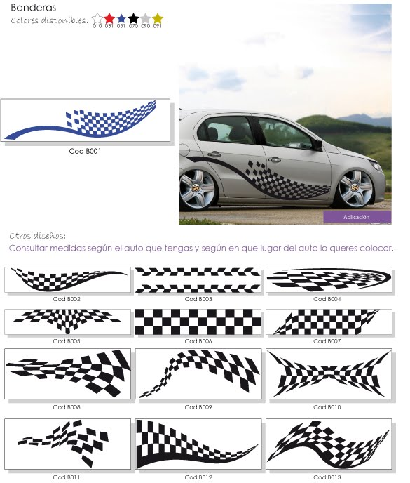 Franjas decorativas para autos - Imagui