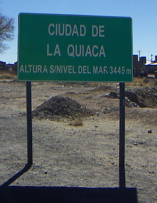altitude at La Quiaca