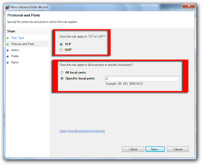 how to allow firewall exceptions in windows 7