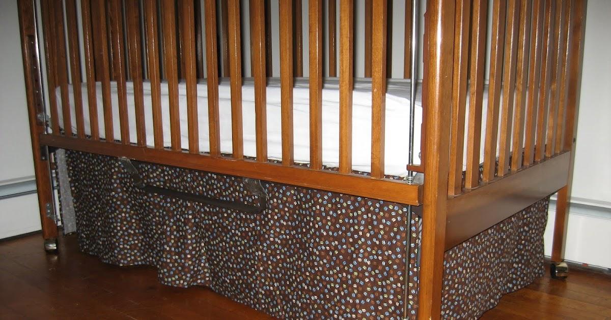 molding a masterpiece crib skirt tutorial single box pleat