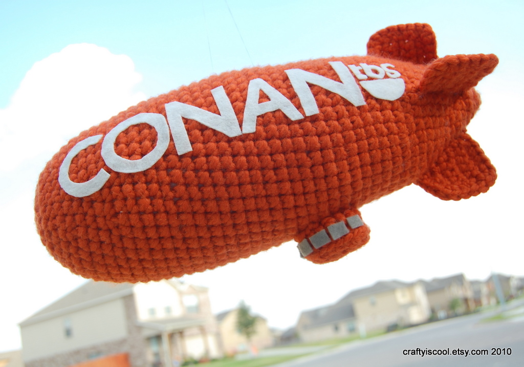 gift presents for boys: free crochet patterns, the conan blimp!