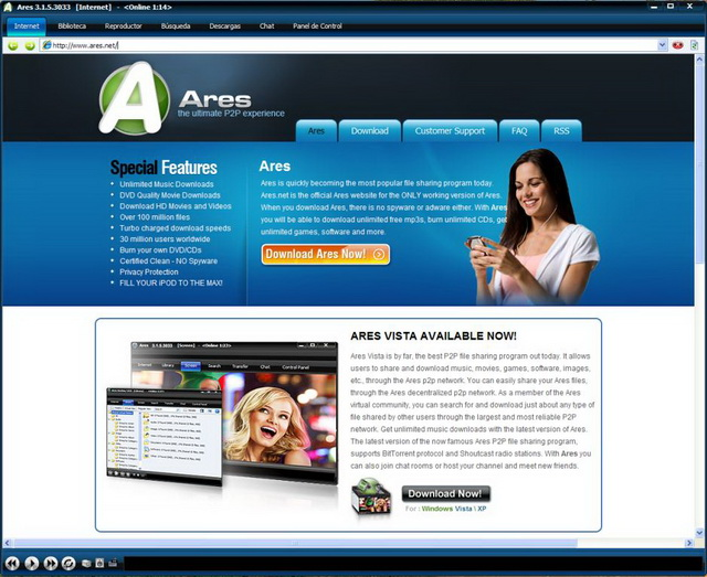 descargar ares para windows 7 gratis espanol