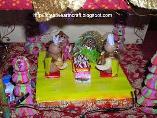Anu 39 s art and crafts wedding card mandap decoration for Decoration from waste things