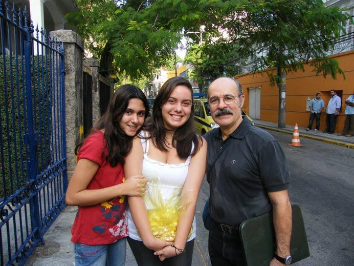 Osmar Prado, Tábita (filha de Rada) e Carol