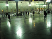 Sinaran malam masjid Nabawi