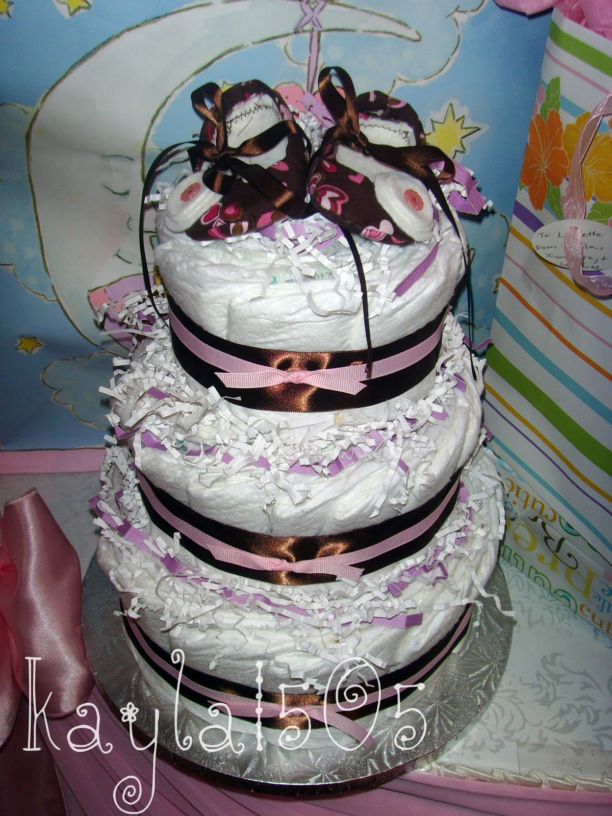 train diaper cake instructions