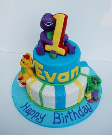 A Barney, BJ, And Baby Bop Cake For Little Evan Who Turned 1 And It Turned  Out So Adorable. Evan Loves Barney And Although I Find Him (Barney) Quite  ...