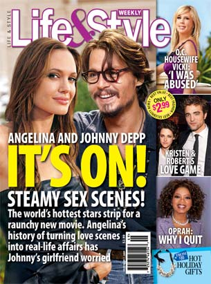 is johnny Depp getting some of Angelina Jolie?