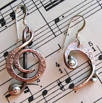 Treble Clef and Bass Clef Earrings