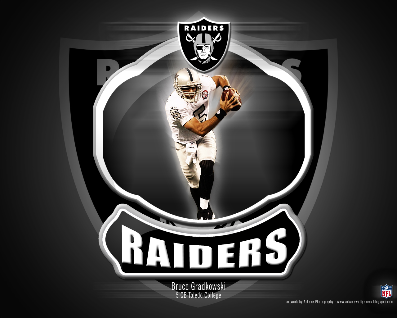 Arkane Nfl Wallpapers Bruce Gradkowski Oakland Raiders