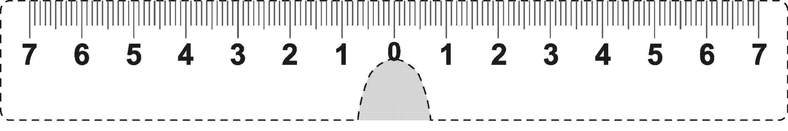 Decisive image within printable pd ruler