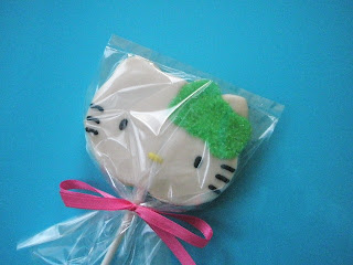 Sweetie 39 s bakeshop hello kitty lollipop pink and lime green bows - Modern tuinmodel ...