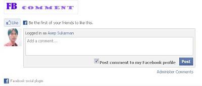 Cara memasang Kotak Komentar Facebook Di Blogspot