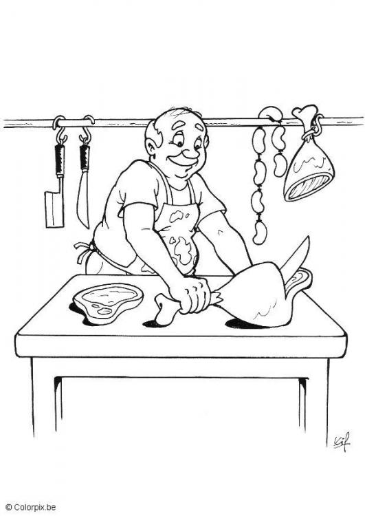 supermarket coloring pages - photo#25